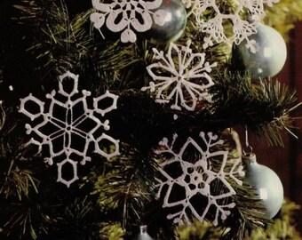 5 crochet snowflakes pattern