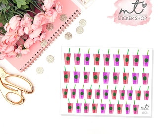 Iced Drinks || Planner Stickers || SKU 058