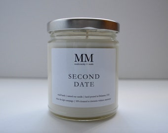 SECOND DATE // natural soy candle // hand-poured // small batch