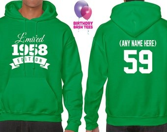 1958 Birthday Hoodie 59 Limited Edition Birthday Hoodie 59th Birthday Gift for Him Celebration Gift for Her Hoodie Birthday Gift 1958