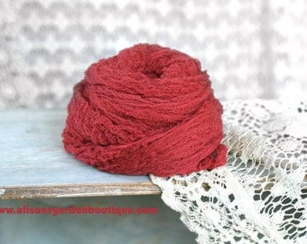 Deep Red- Newborn Cheesecloth Baby Wrap-Photography Prop- Autumn Colors- Fall Colors