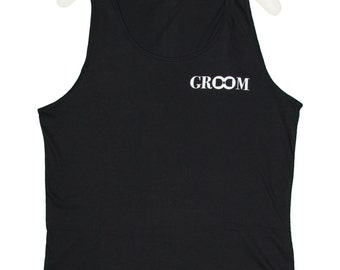 GROOM Tank Top for Bachelor Party! Groom Shirt, Groom Tank Tops, Bachelor Party Shirts, Bachelor Party Tank Tops, Fun Groom Gift