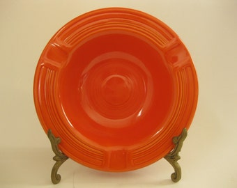 Vintage 1940s Fiesta Ashtray Original Radioactive Red