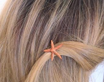 Starfish bobby pin, seashell bobby pin, starfish hair pick