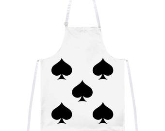 Halloween Five of Spades Card Soldier Costume All Over Apron