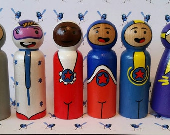 Wooden Peg Dolls - Go Jetters