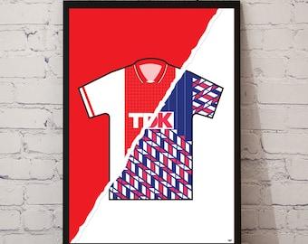 89-91 Ajax Home x 89-91 Away Print
