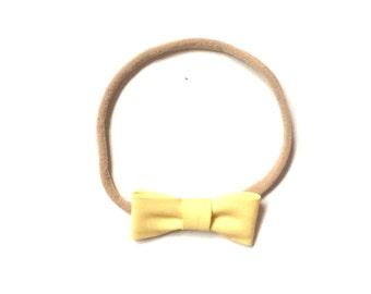 Itty Bitty Headband || Light Yellow