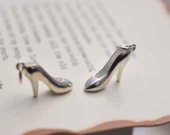 2 pcs sterling silver high heel shoe charm high heels pendant  AY3