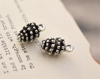 20 antique silver pinecone charms charm pendant pendants  (YY02)