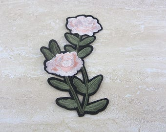 FLOWER Patches, Green Plants Appliques