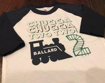 Chugga Chugga Two Two! Design on Raglan T-Shirt