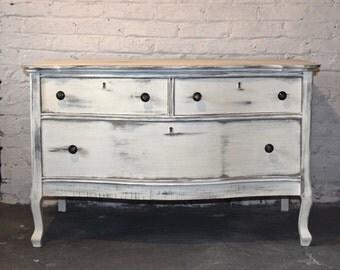 sold antique solid wood dresser tv stand