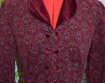 vintage 70s80s fine cord laura ashley edwardian dress