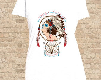Chief Tribes, Dream Catcher Women Flattering Fit T-Shirt, Mens T Shirt  also available, Chief Tribes, Dream Catcher Tee Shirt, Tattoo