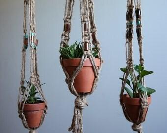 Jute Macrame Plant Hangers
