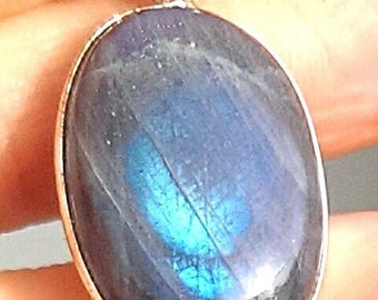 Sterling Silver/ Labradorite Pendant. Gorgeous Flash