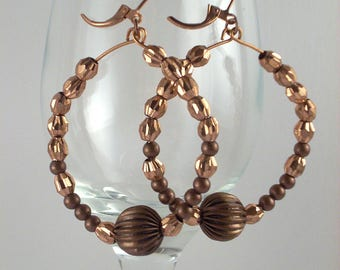 Copper large hoops