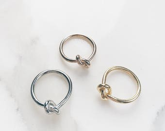Minimalist GAIA Love Knot Ring_ Gold/Rose/Silver