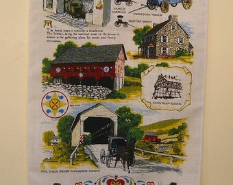 Souvenir Towel from Amish Country Heini's Country Peddler