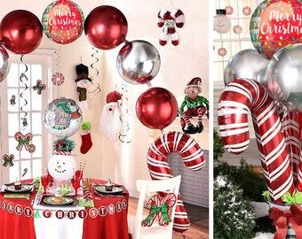 "38 "" Jumbo Candy cane balloon, christmas party decoration, christmas balloon, Huge Balloon, photoshoot, holiday party, holiday decoration"