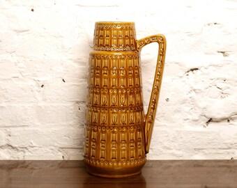Vintage West German XXL Floor Handled Vase by Scheurich Decor INKA Form 416 45