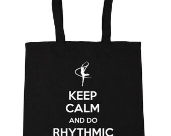 Keep Calm and Do Rhythmic Gymnastics Tote Shopping Gym Beach Bag 42cm x38cm, 10 litres