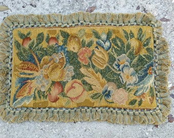 Antique 18th C. Tapestry Pillow Cover