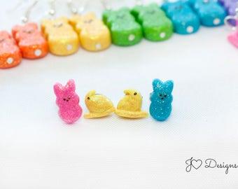 Easter Earrings, Candy Earrings, Easter Basket Stuffers, Easter Gifts, Clay Earrings, Cute Earrings, Clay Miniatures