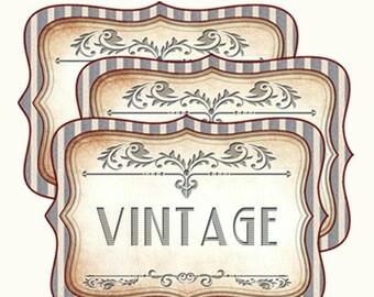 """Printable Blank Apothecary Labels(3"""" x 2"""") Vintage Bottle-Jars Labels, Instant Download,Vintage blank label"""