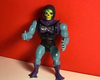 1982 MATTEL SKELETOR BATTLE Damaged vintage action figure Motu He Man Masters of the Universe original toy