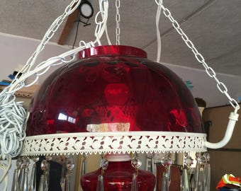 Victorian Look Hanging Parlor Lamp