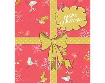Christmas Card - Present Gift Bow Ribbon Xmas Love CP3117