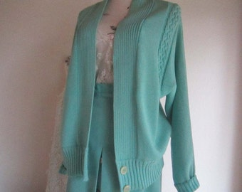 Vintage 60s knit Cardigan Sweater ARA model pastel oversize