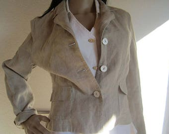 Vintage linen jacket jacket 100% linen Blazer S
