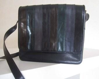Vintage 80s leather bag shoulder crossover bag leather Dey