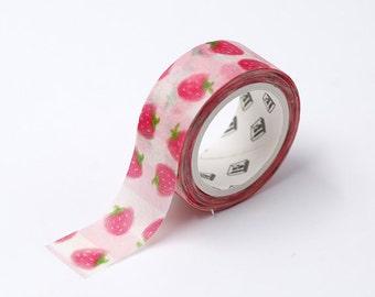 Pink Strawberry Washi Tape, Kawaii Washi Tape, Masking Tape, Planner Tape, Scrapbooking