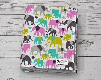 Personalized Minky baby blanket - Custom baby blanket - Baby Elephant minky blanket - Girls elephant blanket - Elephant nursery - Elephant