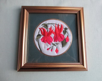 Framed / Embroidery / Fuchsias / Ekard / Embroideries to keep