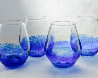 BLUE glass set