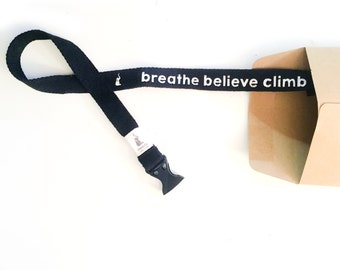 Black Cotton Chalk Bag Belt for Rock Climbing