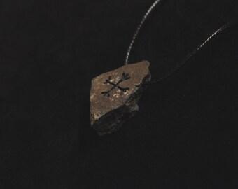Ægishjálmar stone pendant