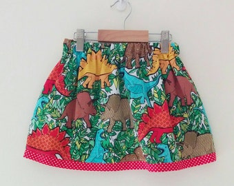 dinosaur skirt | science kids | skirt with pockets | dinosaur clothes | dino lover | dino birthday outfit | dino party | dinosaur kids