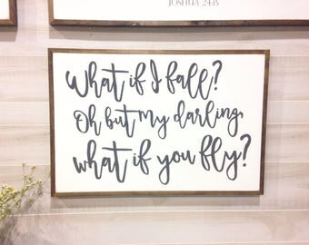 What if you fly? 3'x2' wood sign | wood sign | custom sign | gallery wall | wall decor | wall art