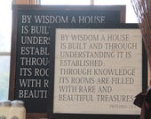 Proverbs 24 By Wisdom A House Is Built Bible Verse Homeschool Classical Conversations Sign Farmhouse Market Magnolia Farms Joanna Gaines Art