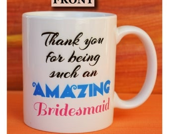 bridesmaid gift, thank you bridesmaid, maid of honor gift, thank you gift for bridesmaid,bridesmaid coffee cup,bridal party cup