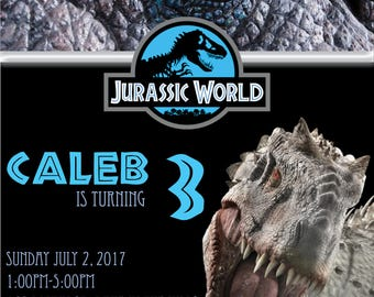 DIGITAL* Jurassic World Party Invitation