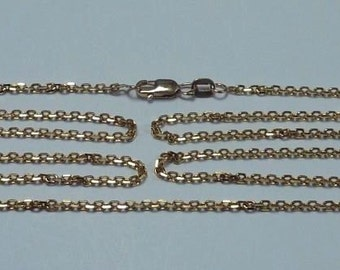 14K Yellow Gold 24 inch, 1.7 mm wide Anchor Link Chain