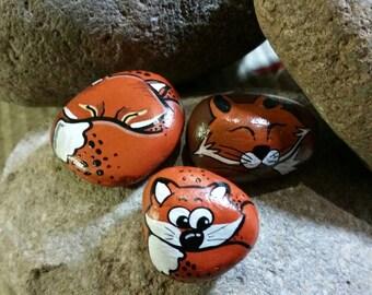 Animals on stone 3 pieces
