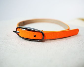 Orange Recycled Bracelet/Cuff for your Scarf